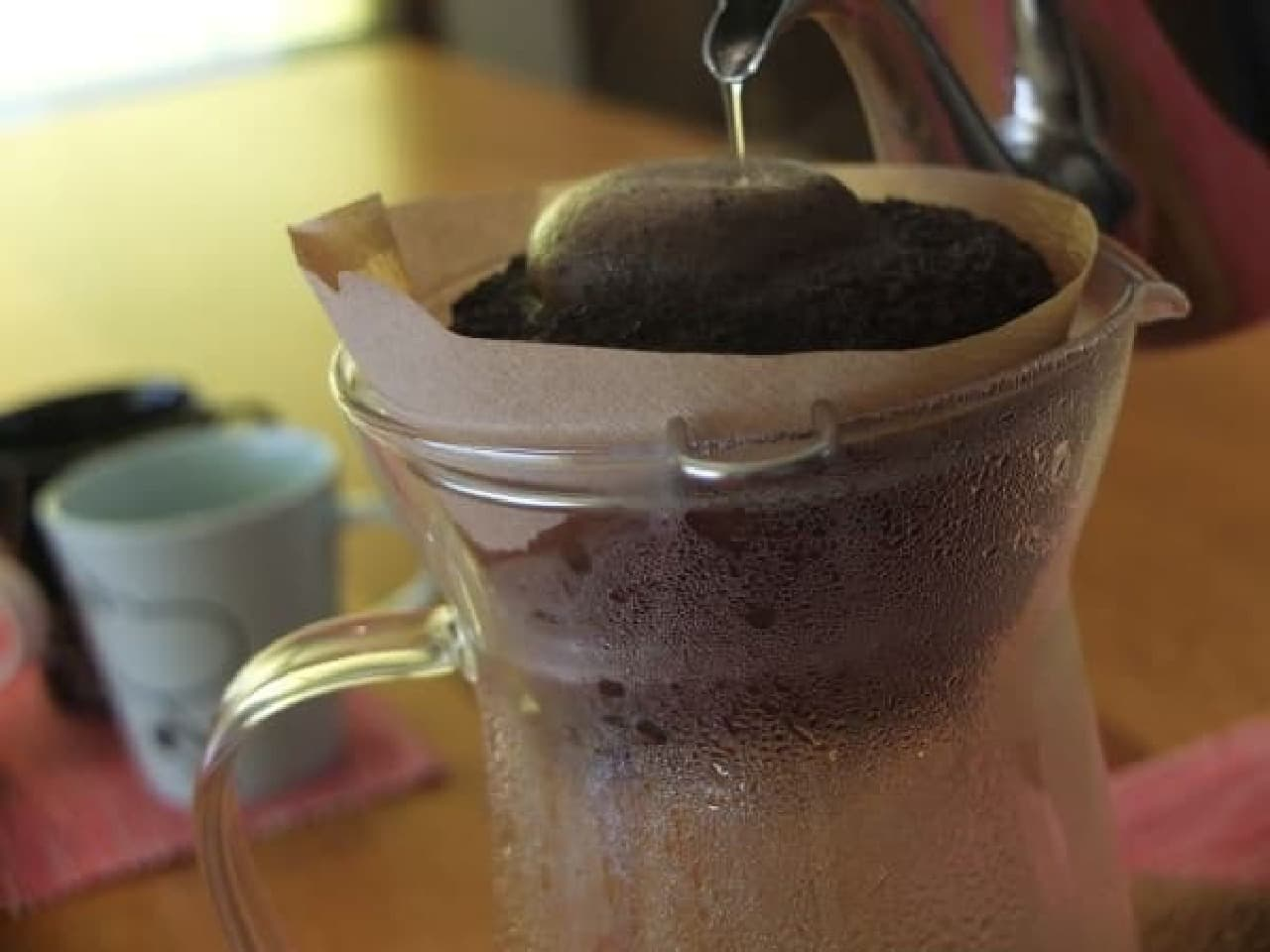 フィルターにコーヒーがしみ出てきました