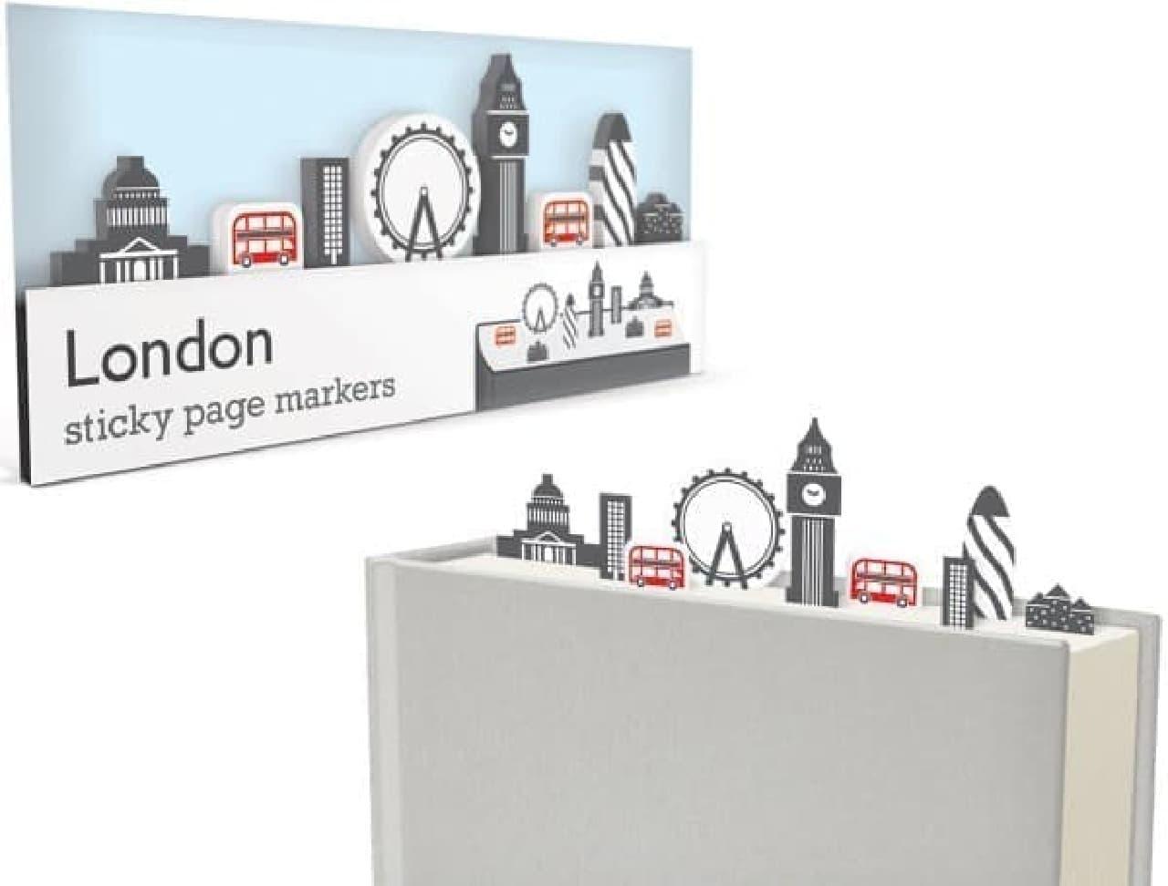 「ロンドン」パッケージには、ビッグベン、セント・ポール大聖堂などの栞が付属