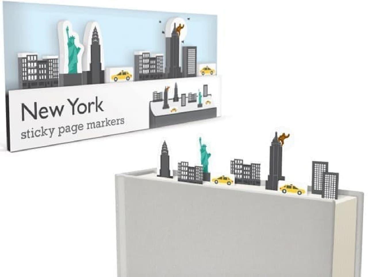 「ニューヨーク」パッケージには、自由の女神、 エンパイアステートビル(キングコング付き)など