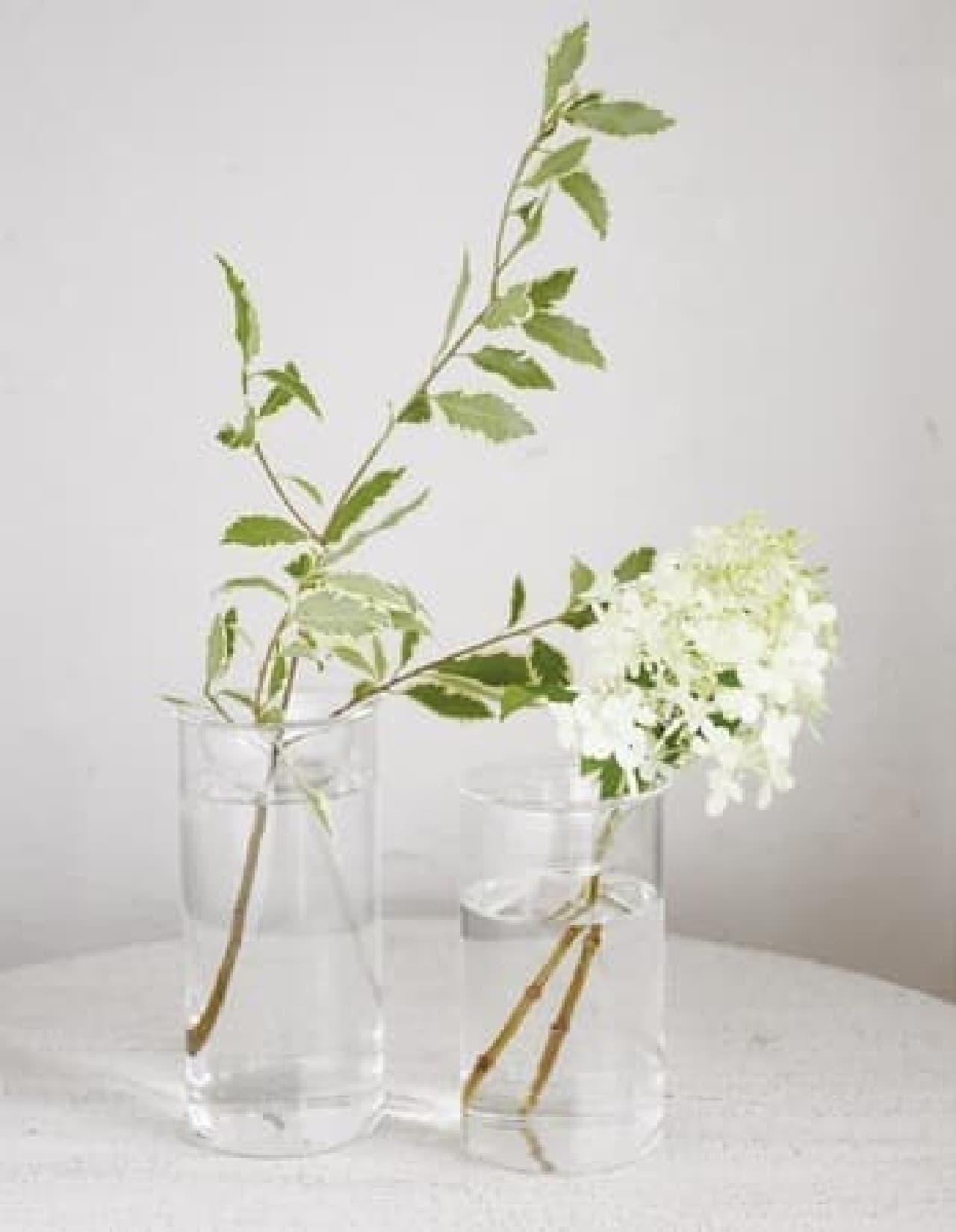 飾りにくい切り花も安定