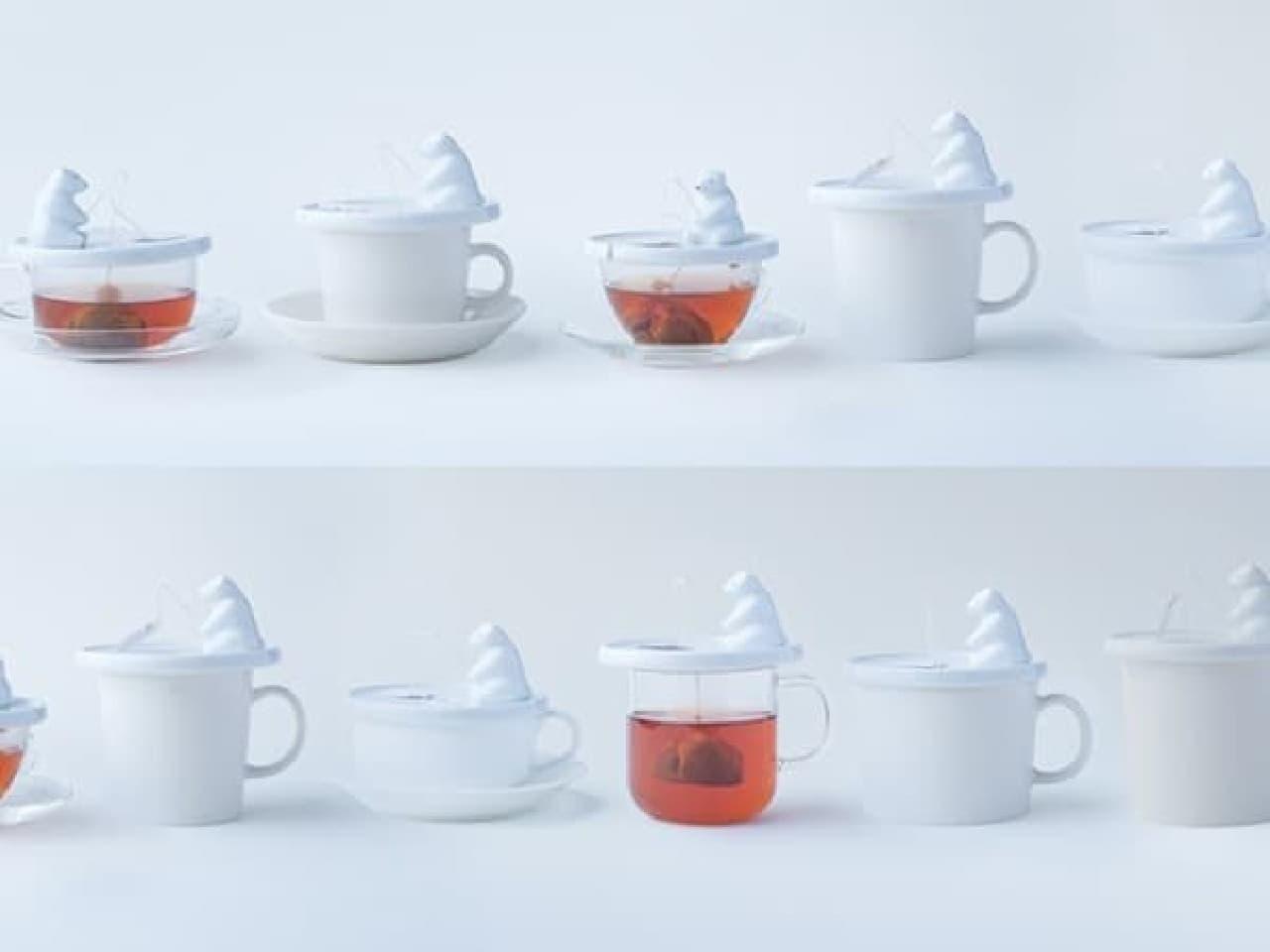 様々なサイズ、形状のカップに対応します