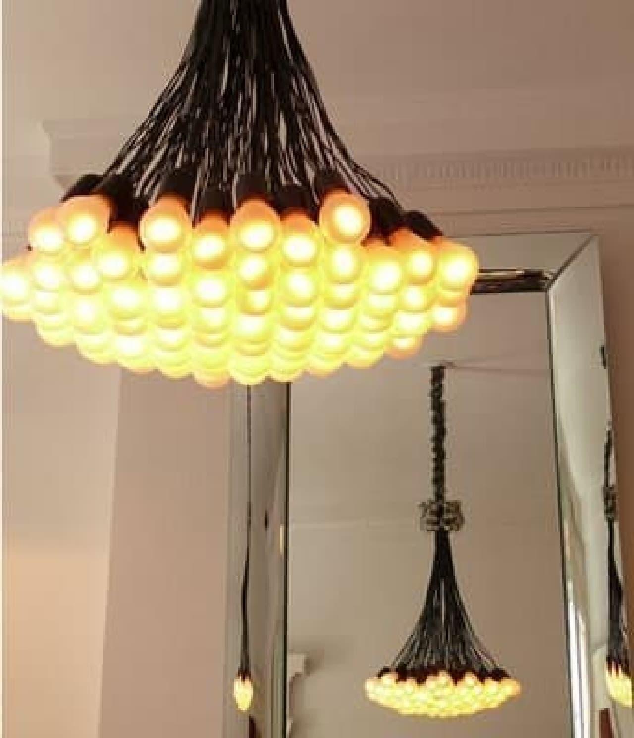 お部屋に飾ると、ほら豪華!  ……裸電球をいっぱい吊るしているだけなんですけどね