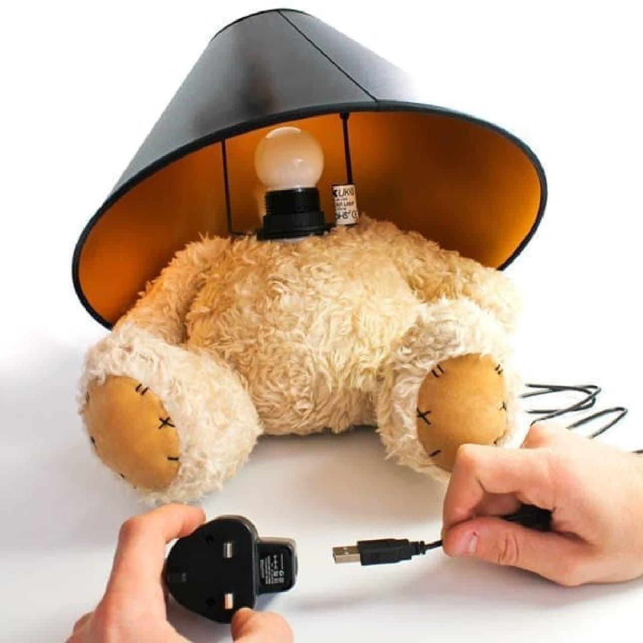 USB 給電なら、会社のデスクにもおけますね!  (絶対置かないけど…)