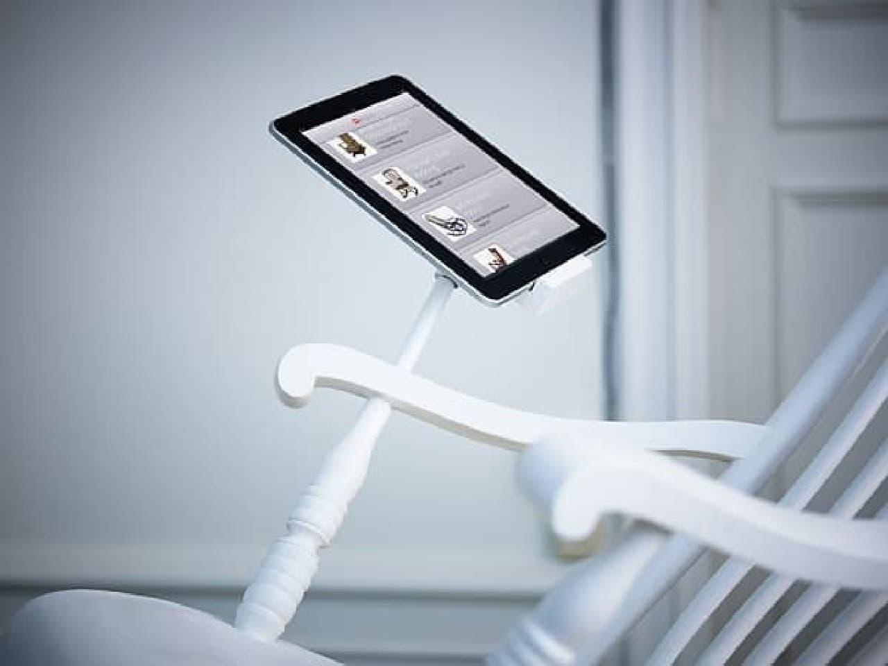 iPad を充電できるロッキングチェア「iRock」