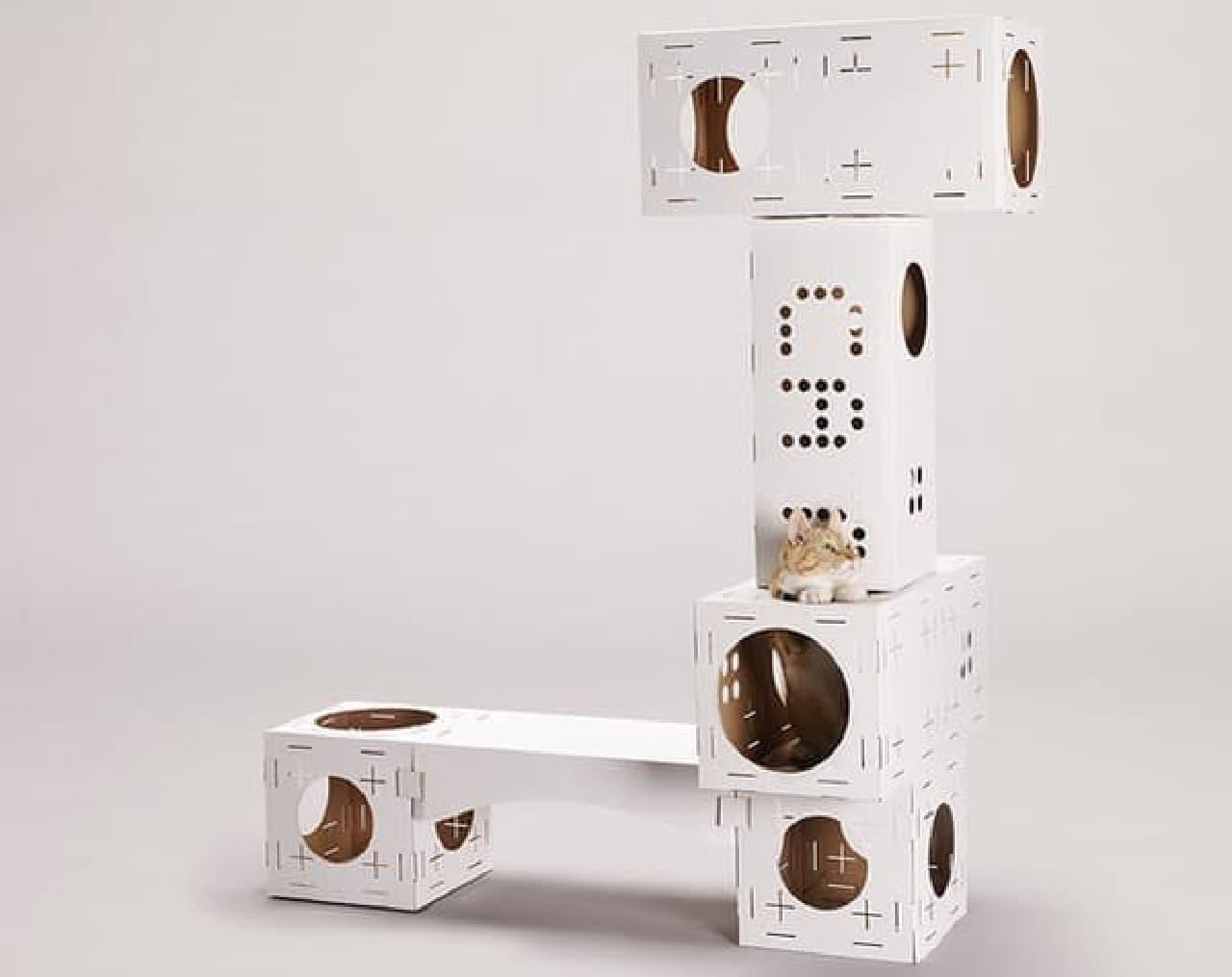 「BLOCKS」による標準的なキャットタワー