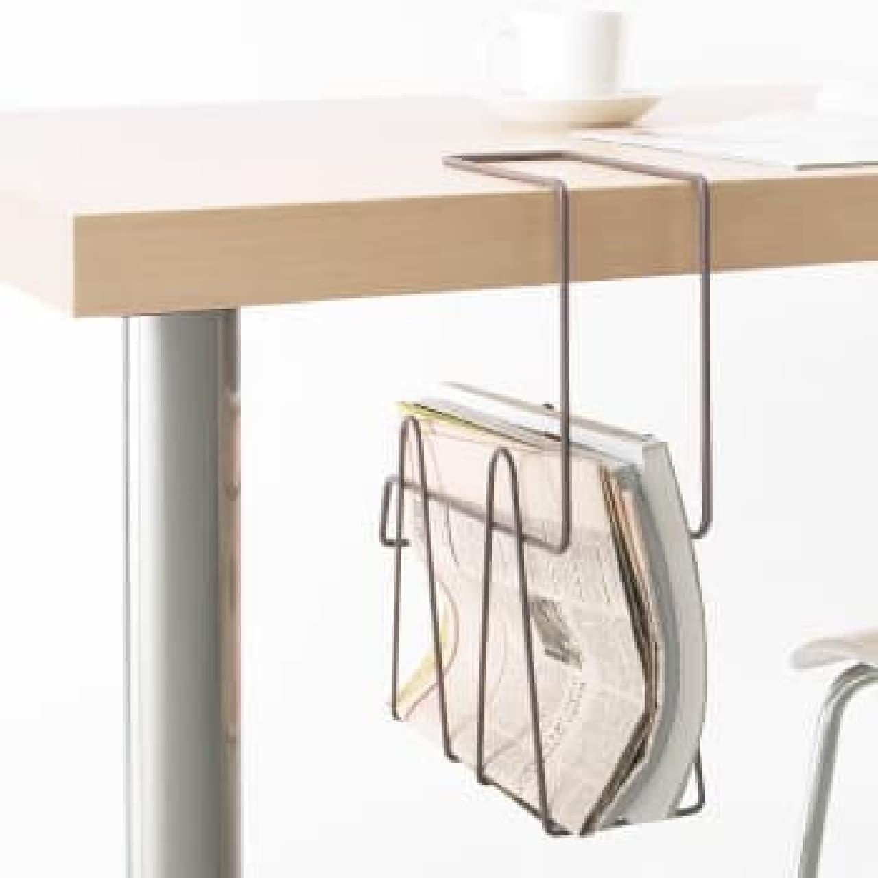 テーブル下のスペースを活用したアイデア商品