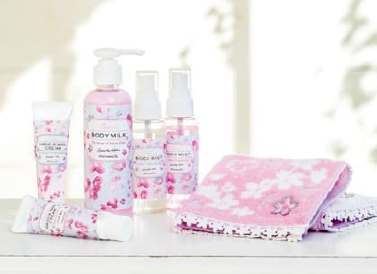 桜の香りのボディケア