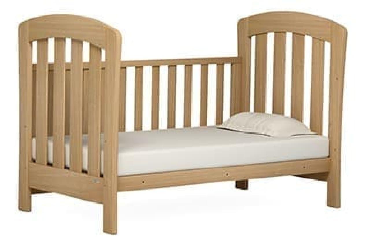 柵を取り外して子ども用ベッドやソファに