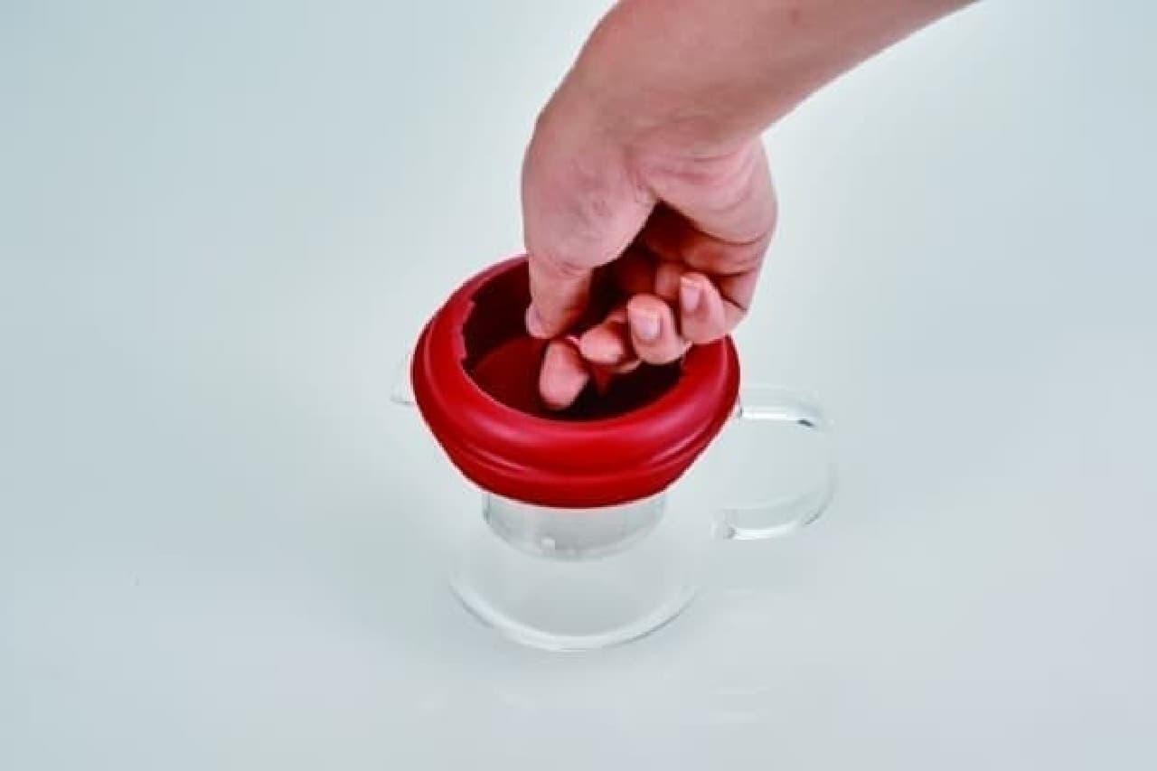 お茶の濃さを調節して抽出できる