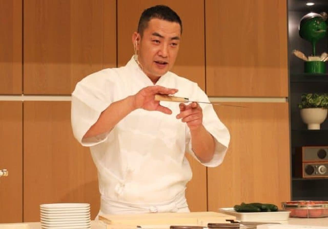 気鋭の若手日本料理人・橋本氏との共同開発