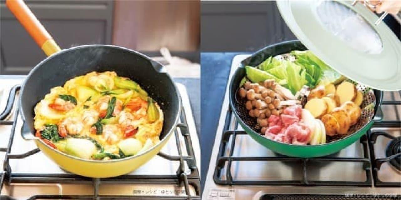 炒める、煮る、蒸すなど幅広い調理に