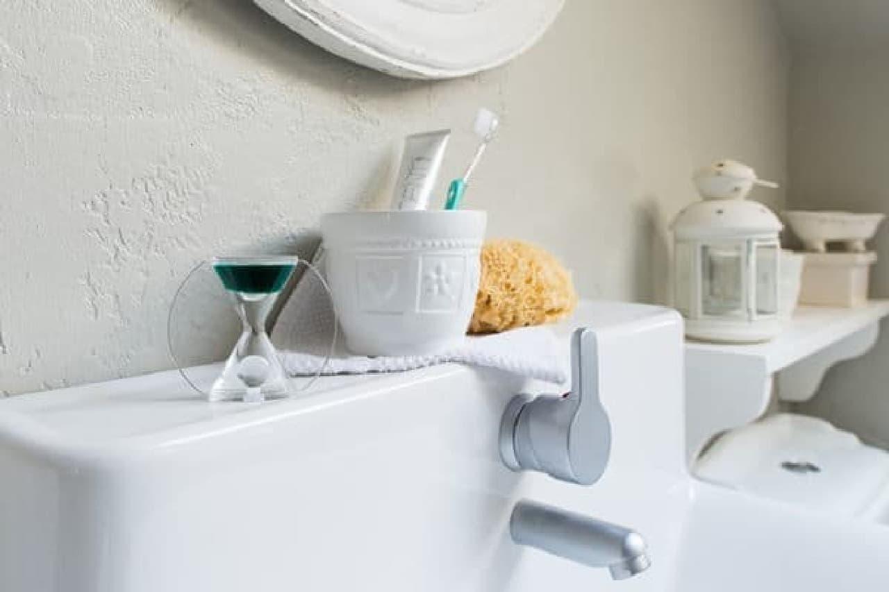 歯磨き時間を測ったり
