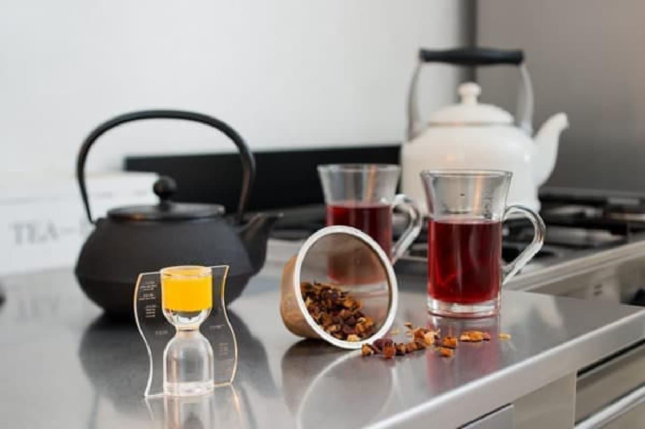 茶葉を蒸らす間にのんびり眺めたり