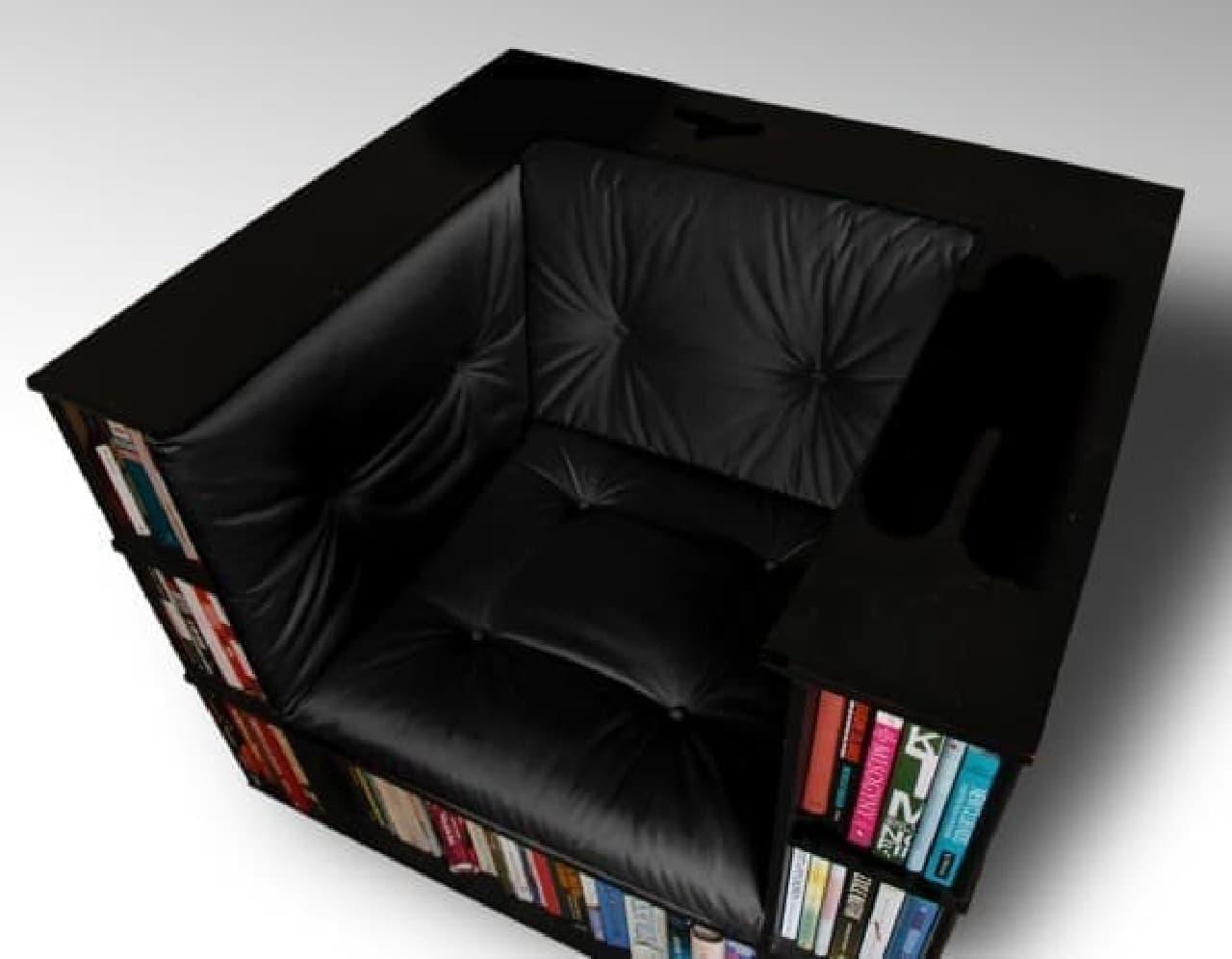 """本を""""収納する場所""""と、""""読む場所""""を1つにまとめます"""