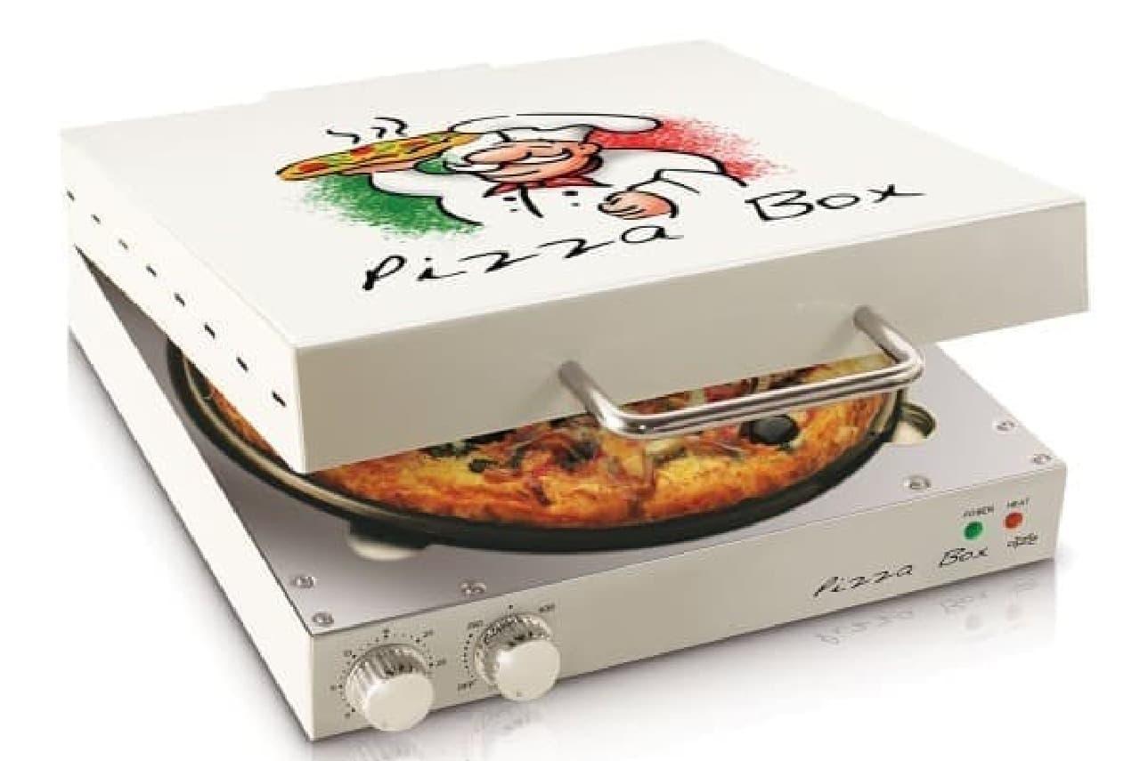 フタを開けると、焼きたてピザが!
