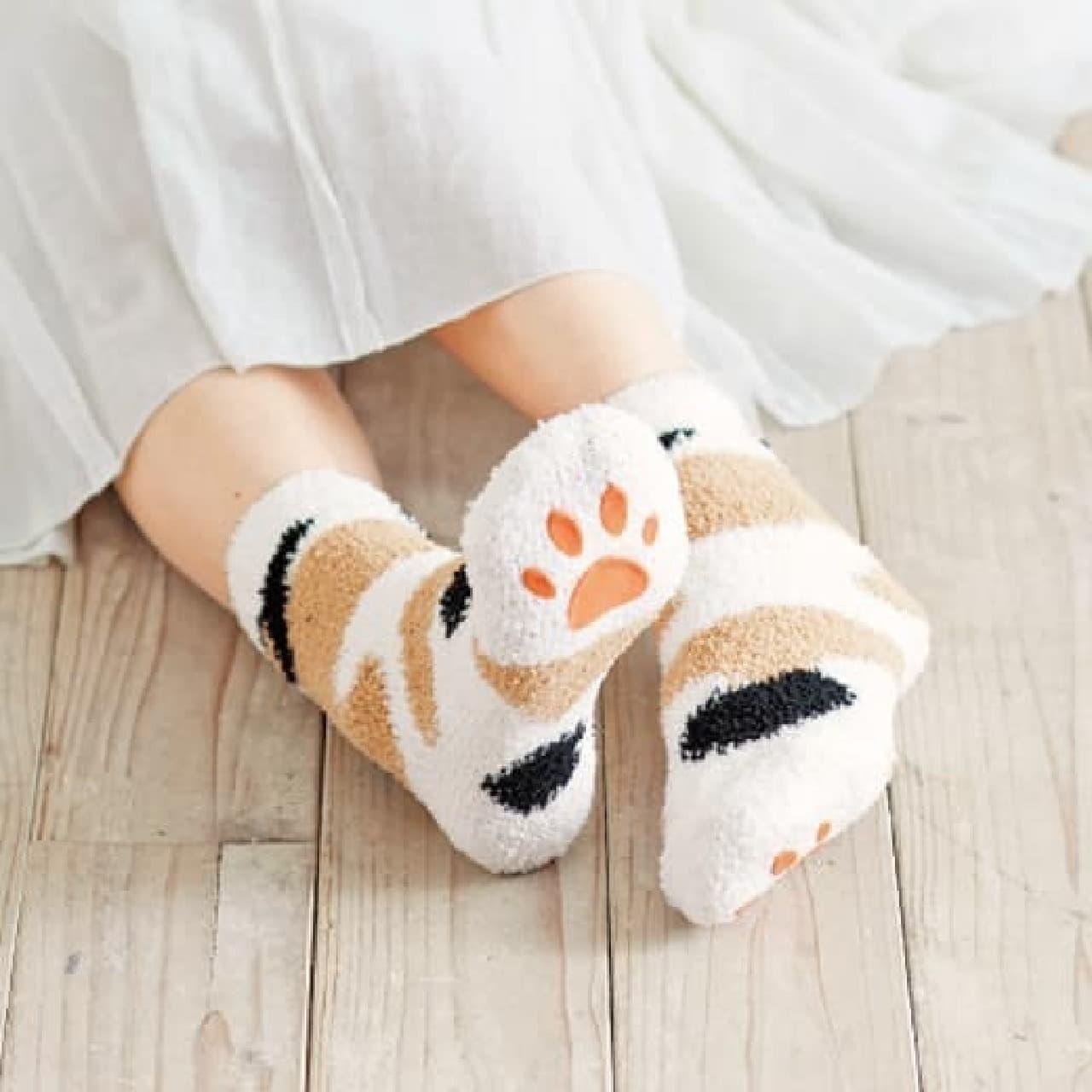 猫足ルームソックス