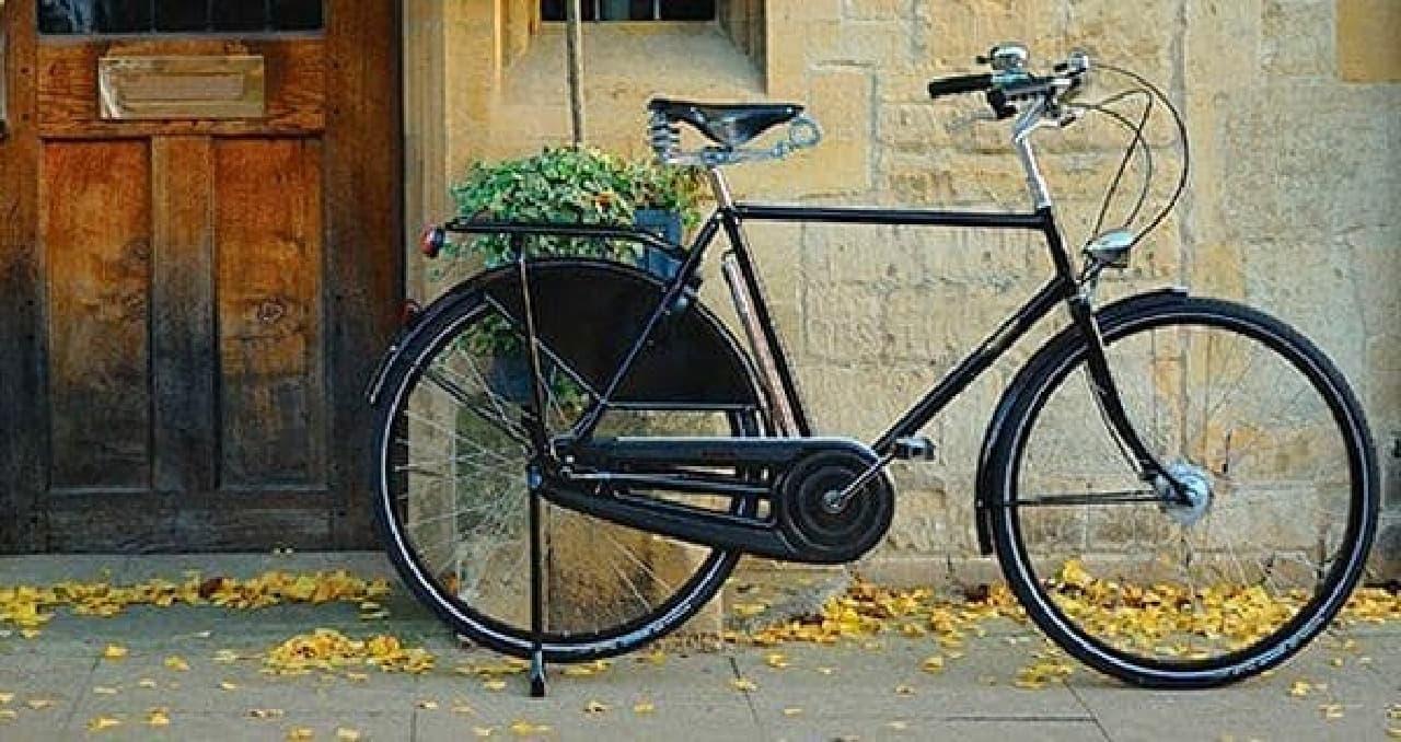 イギリスブランドの自転車も展示