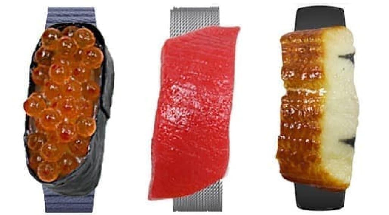 寿司を携帯できるウェアラブルデバイス「Sushi Watch」