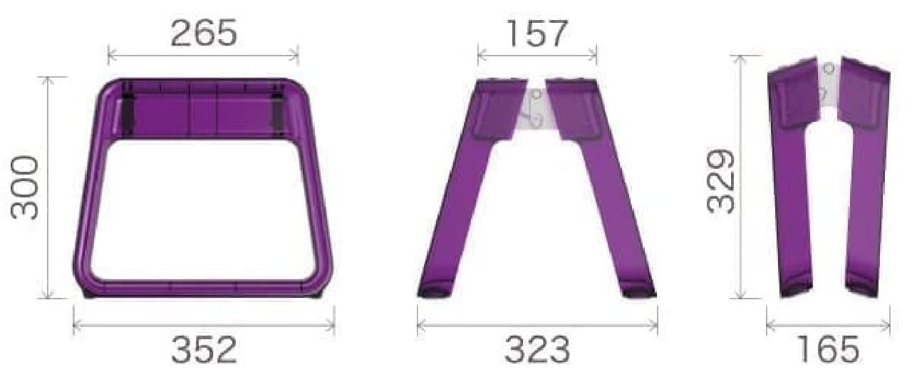 製品サイズ(単位:mm)
