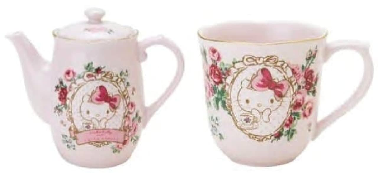 (左)ティーポット(4,860円)、(右)ティーカップ(1,944円)