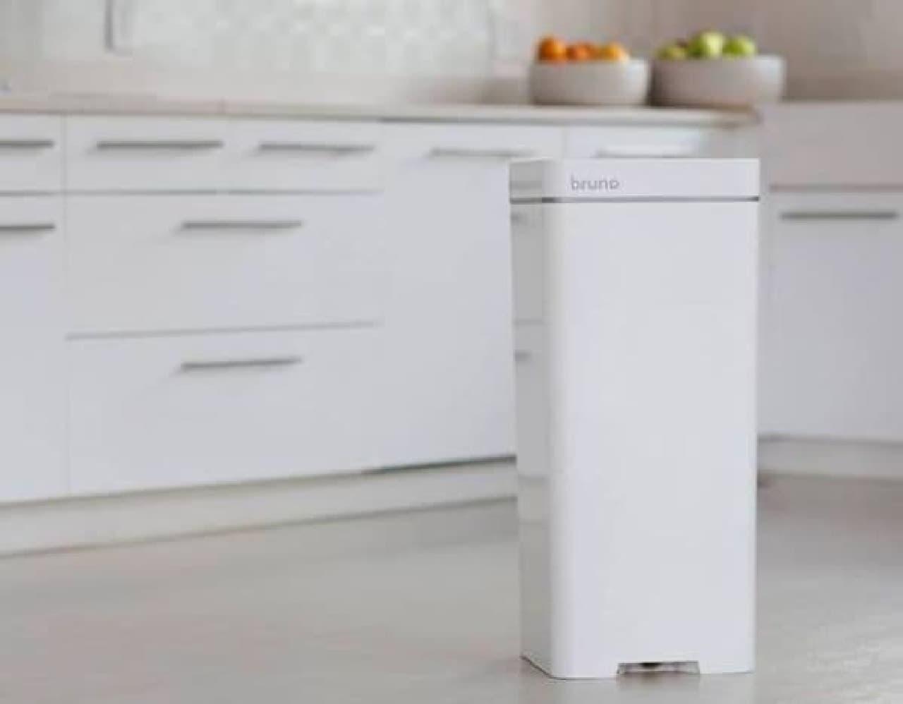 掃き掃除の手間を減らすゴミ箱「Bruno」