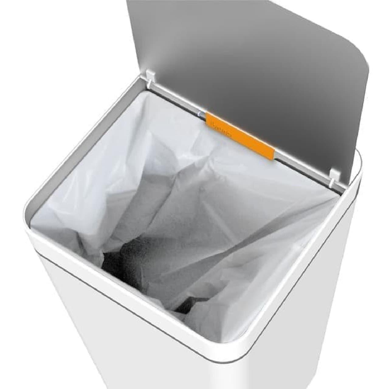 ゴミは、内部のゴミ袋に入れられる