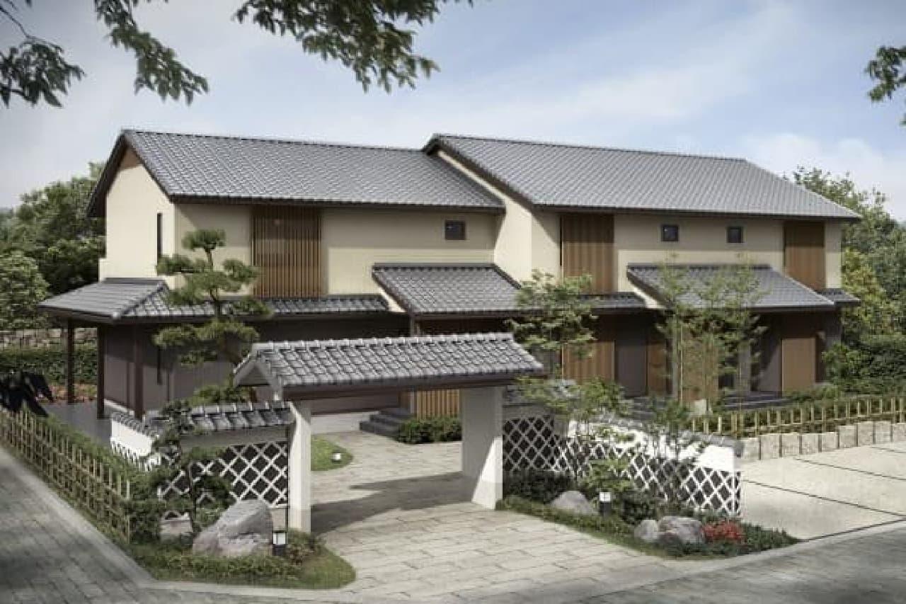 鉄骨造2階建の「セジュールウィット 京和風」
