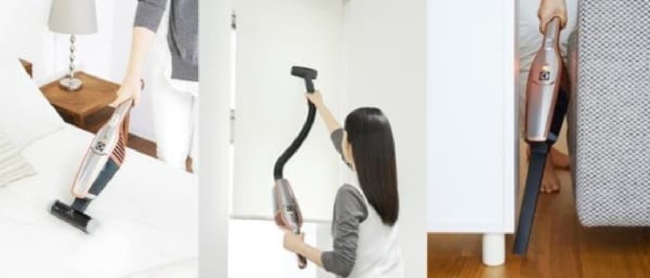 1回の充電で家中丸ごと掃除できる