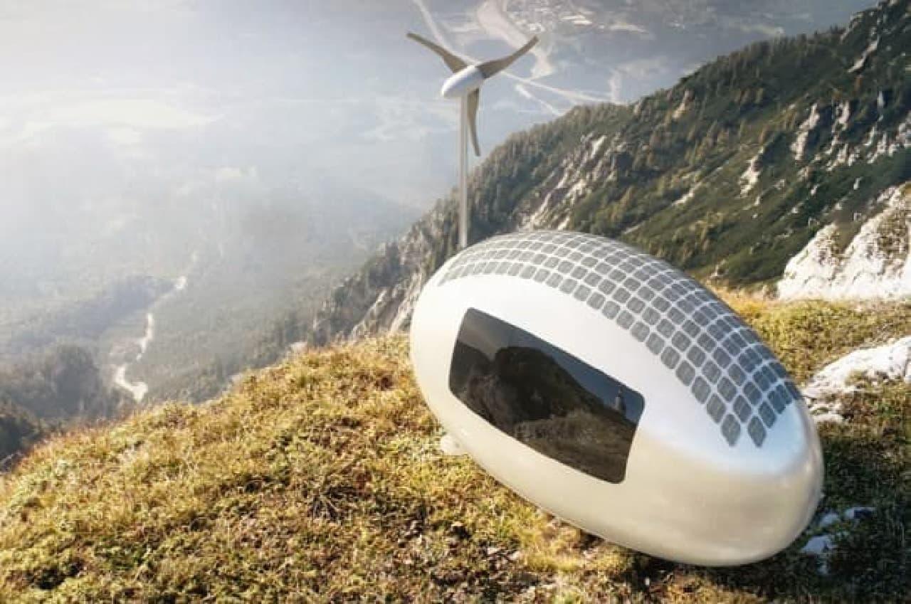 電気もガスも水もいらないミニハウス「Ecocapsule」