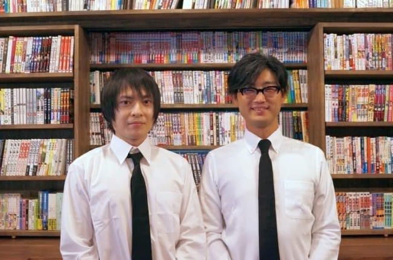 副店長兼コンシェルジュの兎来栄寿氏(左)と  店長兼コンシェルジュの永田希氏(右)