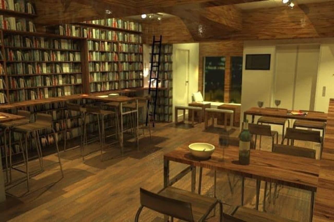 落ち着いたカフェバー調の店内(画像はイメージ)