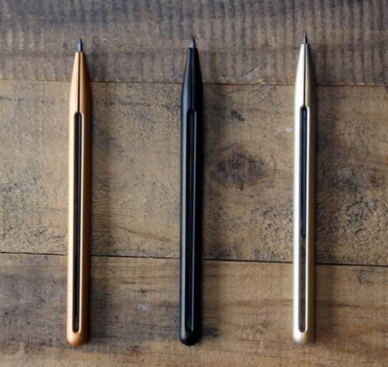 「Penxo」カラ―バリエーション  (左から「ゴールド」「ブラック」「シルバー」)