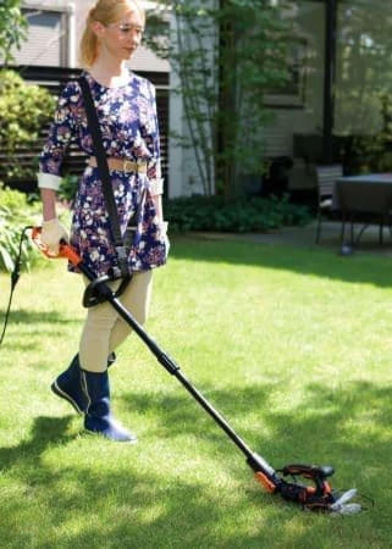 広範囲の芝刈りや