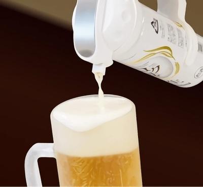 手元でビールと泡を切り替えられる「コク泡」