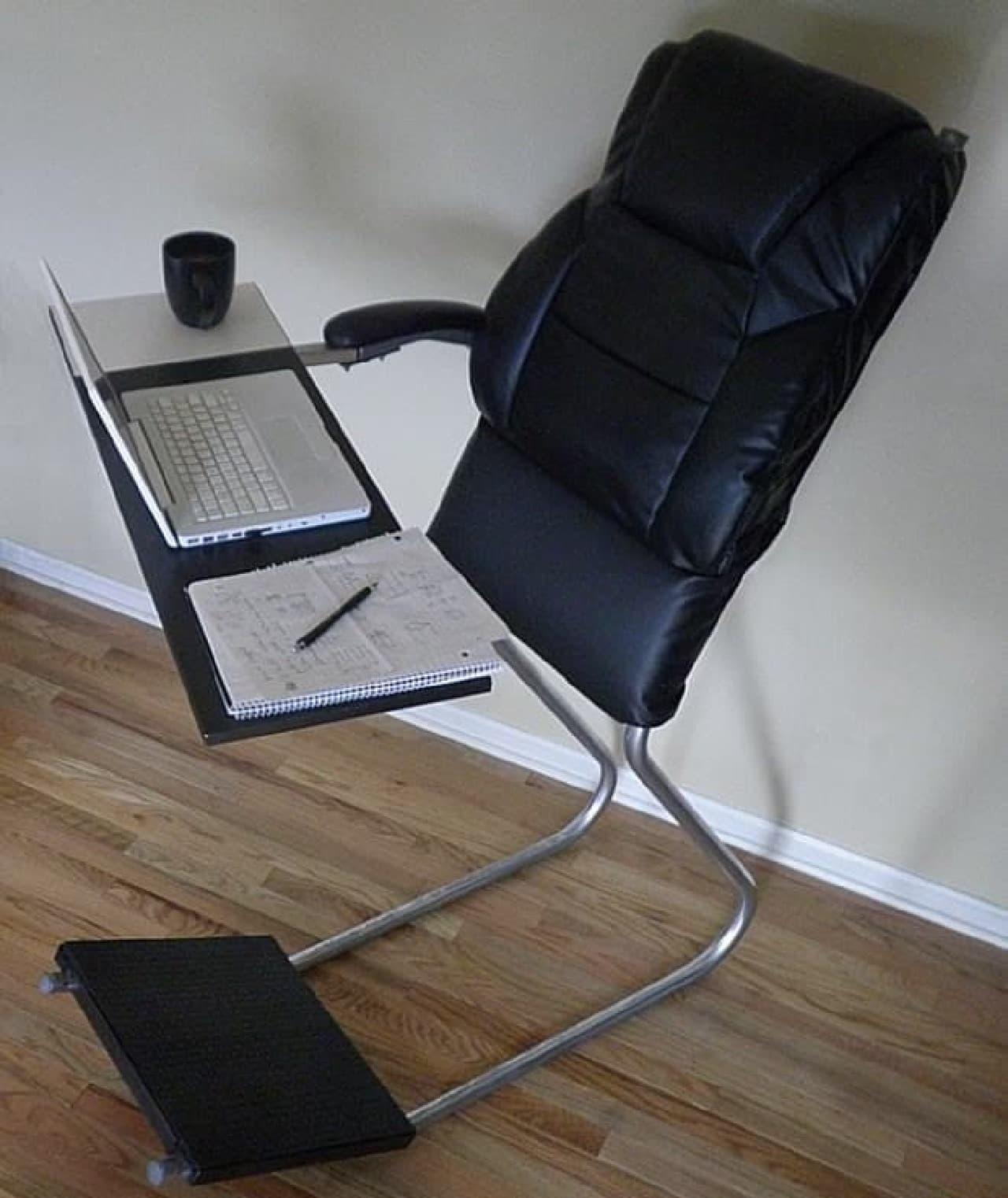 座るのではなく\u201c寄りかかる\u201d椅子「LeanChair」\u2015肩・腰によいだけ