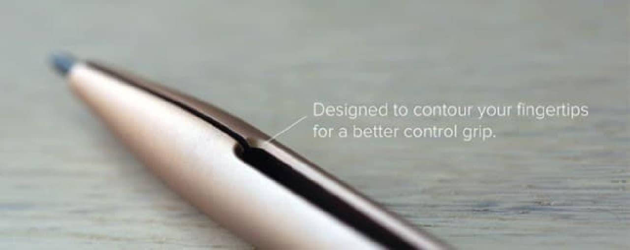 隙間の形状は、芯の出具合を調整するのにぴったり?