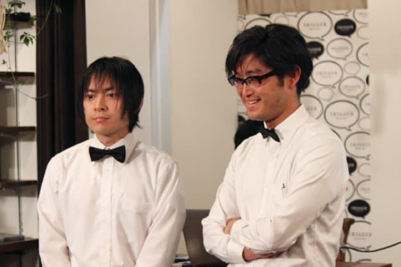 兎来栄寿さん(左)と、永田希さん(右)  マンガ好きオーラ、伝わります?