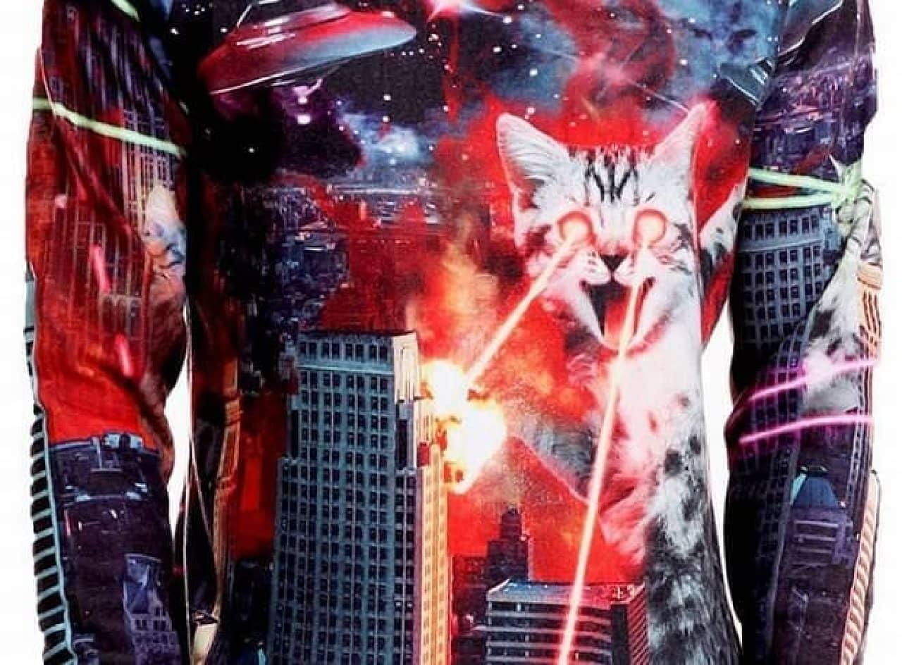 ゴジラのように街を破壊するネコ「Catzilla(キャットジラ)」