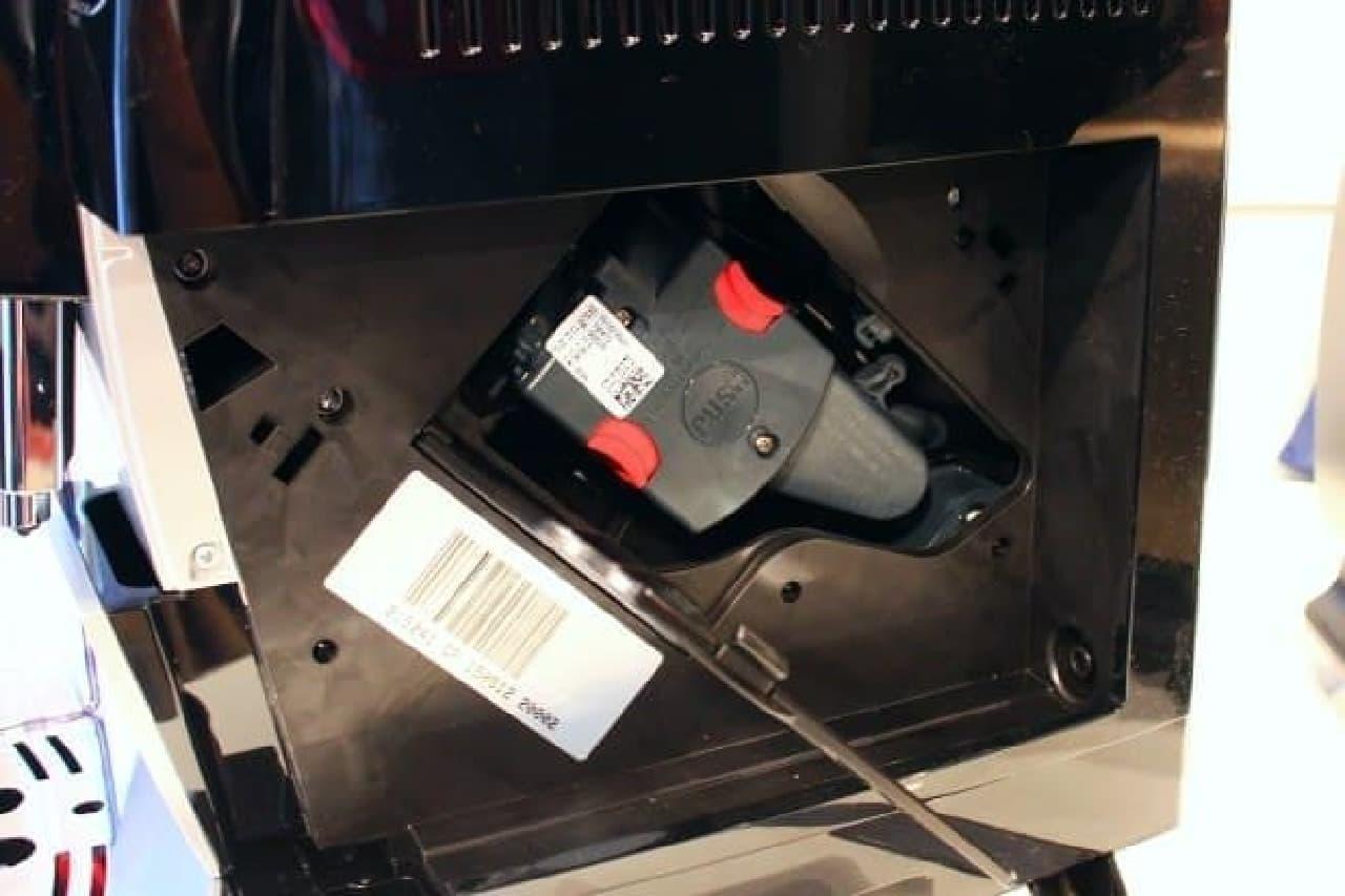 ワンタッチで着脱が可能な抽出ユニット