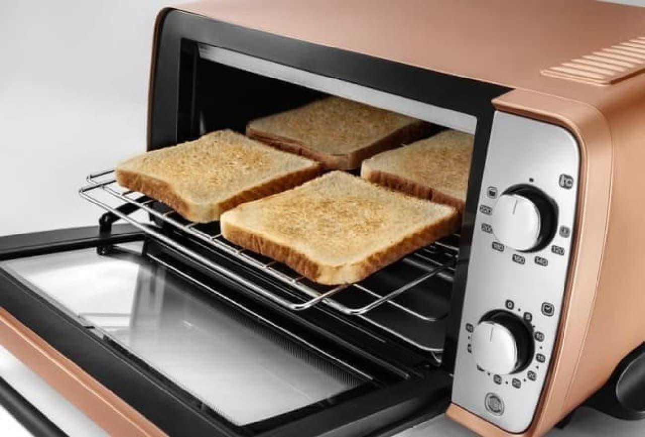 トースト4枚が一度に焼ける