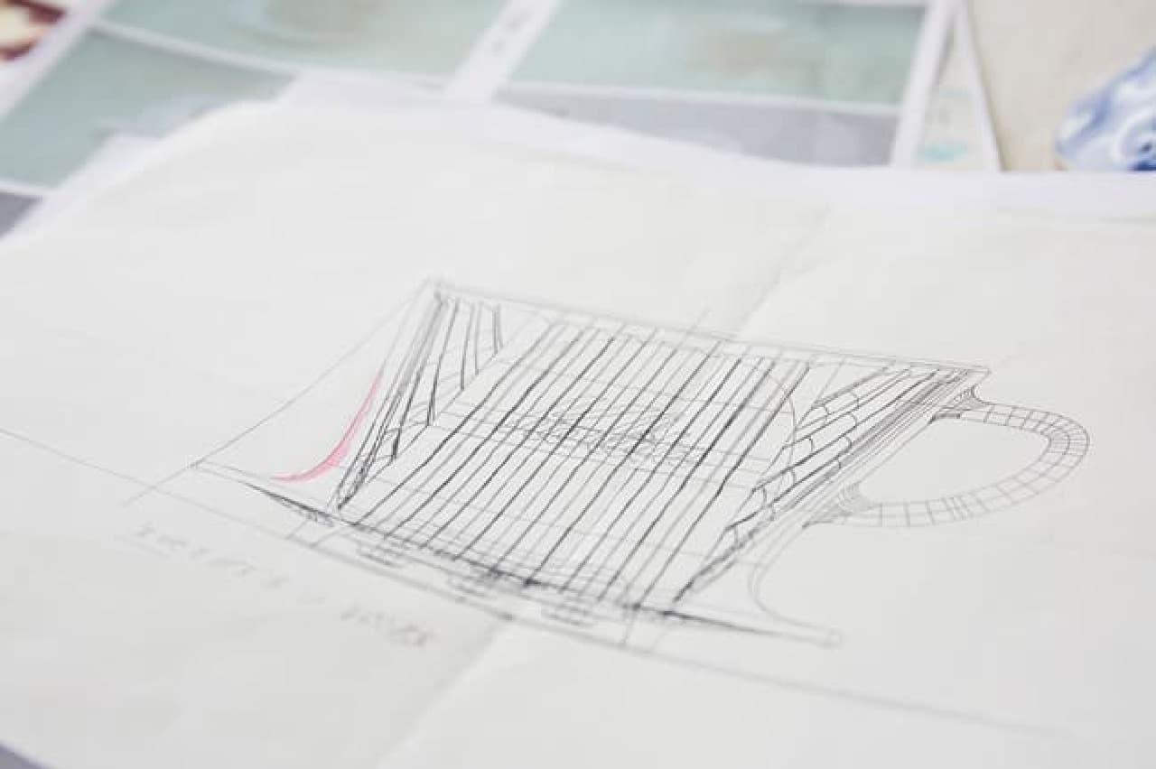 プロットの段階で描かれたデザイン画
