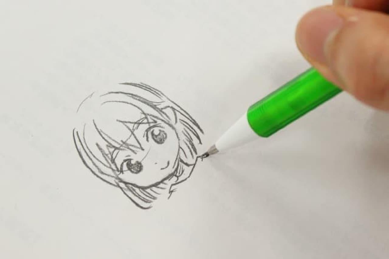 さらっとかわいい女の子を描いてくれた