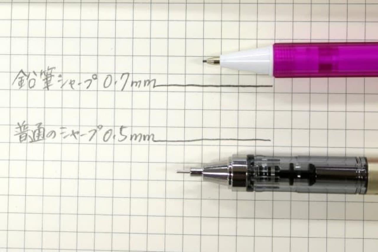 線の太さはほぼ同じ