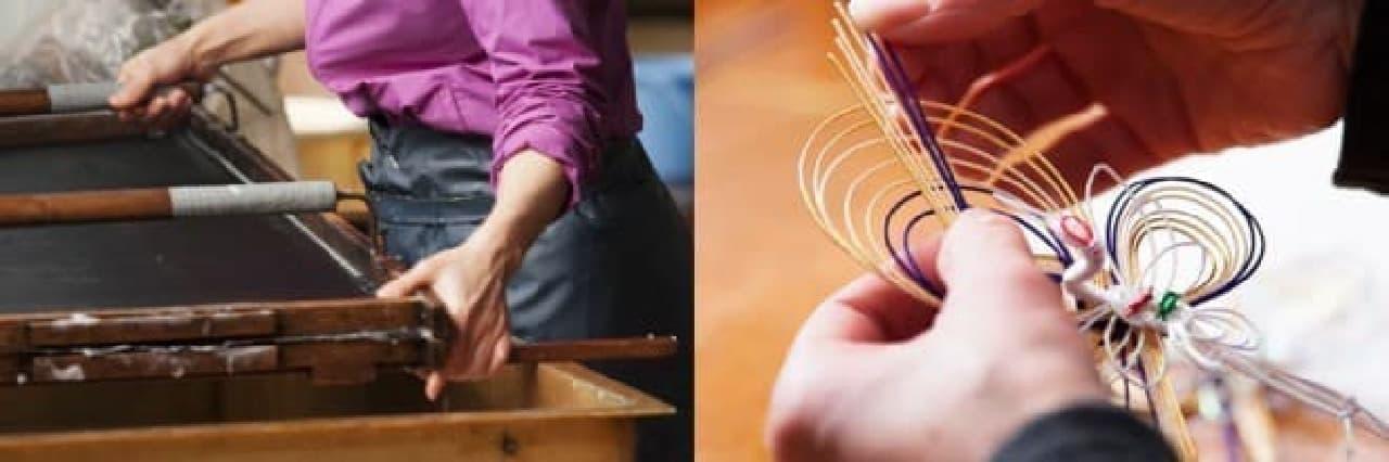 和紙、水引きは福井の職人が丹精込めて作ったもの