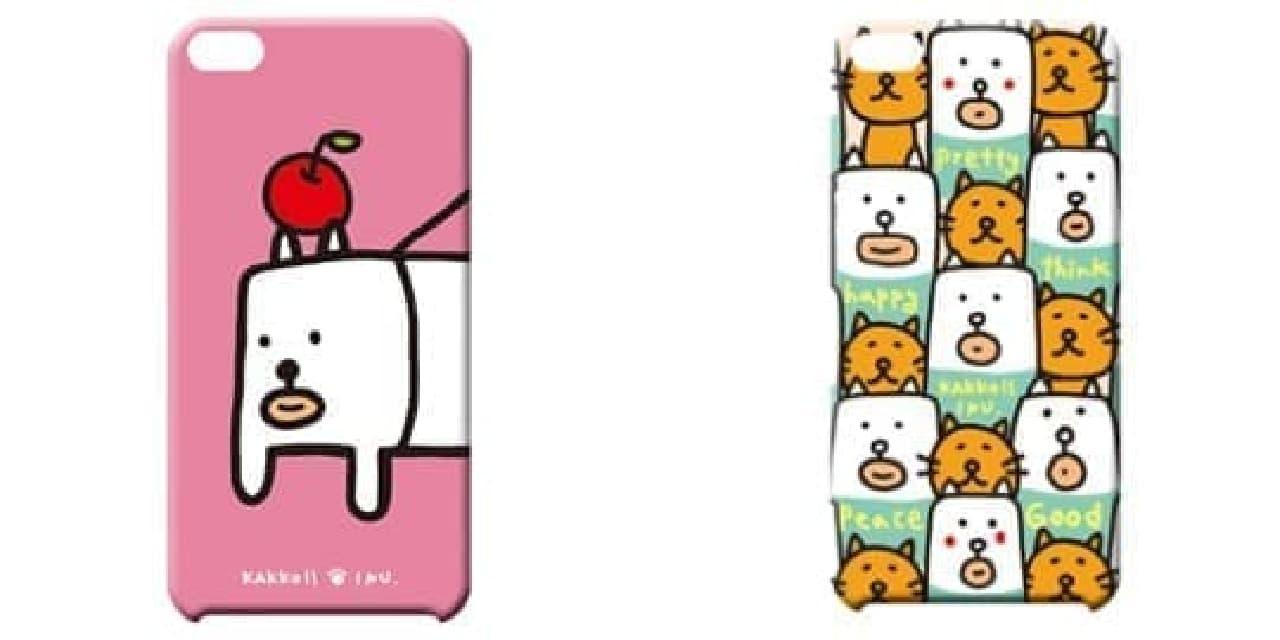 iPhoneケース「ピンク」(画像左)と、「いっぱい」(画像右)  さるはいない?