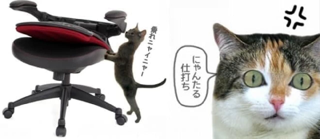 ネコが乗れないオフィスチェア「乗れニャ椅子(のれにゃいす)」販売開始