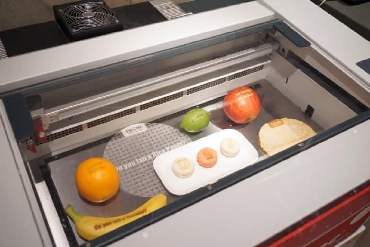 食品にもプリントできるレーザーカッター