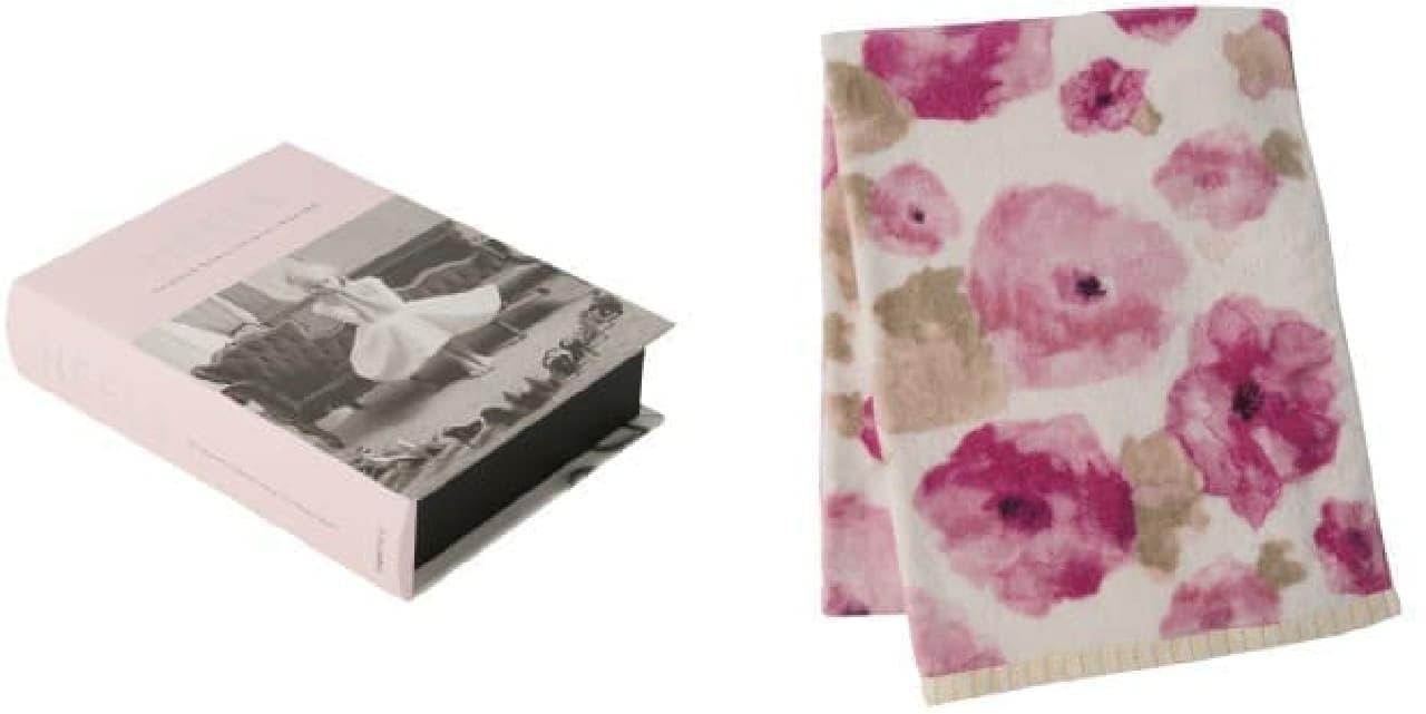 (左)シャーロット ブックボックス M/2,000円  (右)エーデル バスタオル/3,000円
