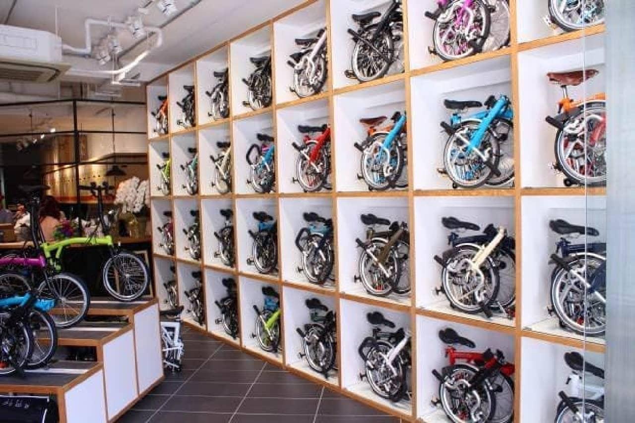 こんな自転車の展示方法、見たことあります?