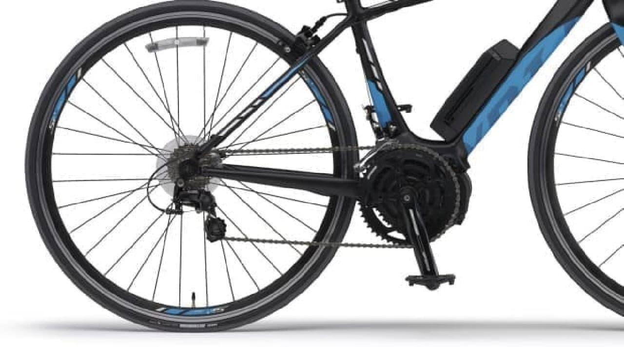 航続距離14キロはかなり短め  だがバッテリーが切れても、ロードバイクとして走行可能だ